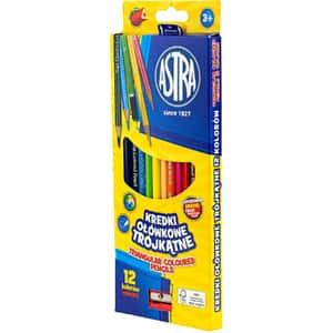 Creioane colorate ASTRA, 12 culori