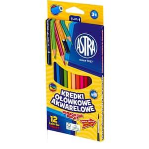 Creioane colorate ASTRA, vopsea pe baza de apa, 12 culori