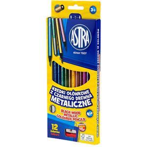 Creioane colorate ASTRA, ascutitoare,12 culori
