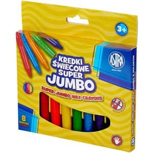 Creioane colorate ASTRA Jumbo, 8 culori