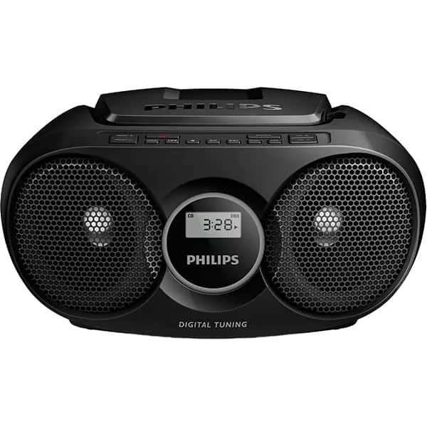 Radio CD portabil PHILIPS AZ215B/12, 3 W, FM, negru