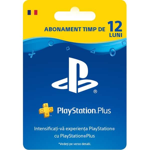 Abonament PS+ (PlayStation Plus) 12 luni (365 zile) RO PS4
