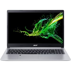 "Laptop ACER Aspire 5 A515-55, Intel Core i5-1035G1 pana la 3.6GHz, 15.6"" Full HD, 8GB, SSD 512GB, Intel UHD Graphics, Free DOS, argintiu"