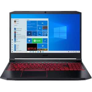 "Laptop Gaming ACER Nitro 5 AN515-55, Intel Core i5-10300H pana la 4.5GHz, 15.6"" Full HD, 8GB, SSD 512GB, NVIDIA GeForce RTX 3050 4GB, Windows 10 Home, negru"