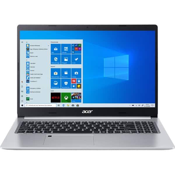 """Laptop ACER Aspire 5 A515-44G-R4YP, AMD Ryzen 5-4500U pana la 4GHz, 15.6"""" Full HD, 8GB, SSD 512GB, AMD Radeon RX640 2GB, Windows 10 Home, argintiu"""