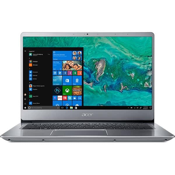 "Laptop ACER Swift 3 SF314-56-55N9, Intel Core i5-8265U pana la 3.9GHz, 14"" Full HD, 8GB, SSD 512GB, Intel HD Graphics 620, Windows 10 Home, Sparkly Silver"