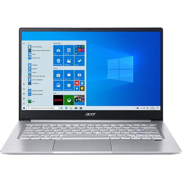 "Laptop ACER Swift 3 SF314-42-R6X3, AMD Ryzen 5 4500U pana la 4GHz, 14"" Full HD, 8GB, SSD 512GB, AMD Radeon Graphics, Windows 10 Home, argintiu"