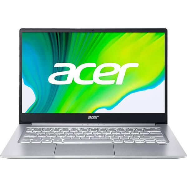 "Laptop ACER Swift 3 SF314-42-R0DN, AMD Ryzen 5 4500U pana la 4GHz, 14"" Full HD, 8GB, SSD 512GB, AMD Radeon Graphics, Free Dos, argintiu"