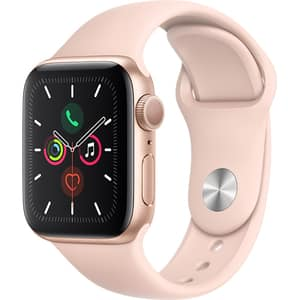 APPLE Watch Series 5 40mm Gold Aluminium Case, Pink Sand Sport Band