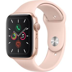 APPLE Watch Series 5 44mm Gold Aluminium Case, Pink Sand Sport Band