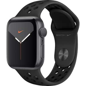 APPLE Watch Series 5 40mm Space Grey Aluminium Case, Anthracite/Black Nike Sport Band