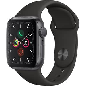 APPLE Watch Series 5 40mm Space Grey Aluminium Case, Black Sport Band