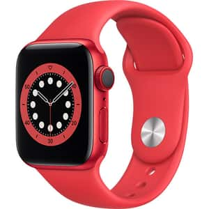 Apple Watch Series 6 GPS + Cellular, 40mm PRODUCT (RED) Aluminium Case, PRODUCT (RED) Sport Band