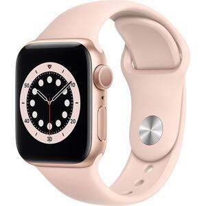 Apple Watch Series 6, 40mm Gold Aluminium Case, Pink Sand Sport Band