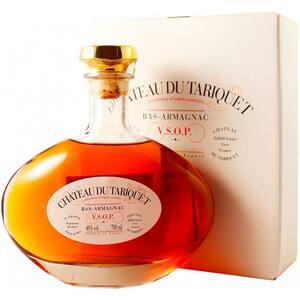 Cognac Chateau du TARIQUET Carafe VSOP Clasic Armagnac, 1L + cutie