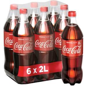 Bautura racoritoare carbogazoasa COCA-COLA  Gust Original bax 2L x 6 sticle