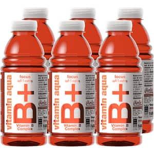 Apa cu vitamine B+ VITAMIN AQUA Apple&Raspberry bax 0.6L x 6 sticle