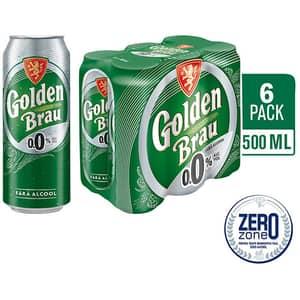 Bere blonda fara alcool GOLDEN BRAU bax 0.5L x 6 cutii