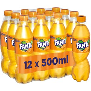 Bautura racoritoare carbogazoasa FANTA Orange bax 0.50L x 12 sticle