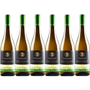 Vin alb demisec Budureasca Premium Chardonnay, 0.75L, 6 sticle