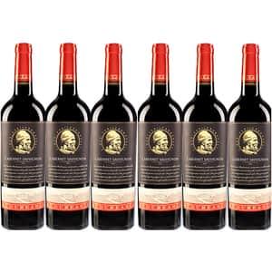 Vin rosu demisec BUDUREASCA Premium Cabernet Sauvignon, 0.75L, 6 sticle