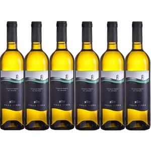 Vin alb sec Villa Vinea Feteasca Regala Clasic, 0.75L, 6 sticle