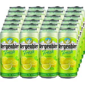 Bere blonda BERGENBIER Fresh Lemon bax 0.5L x 24 cutii