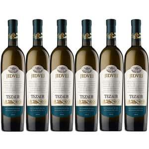 Vin alb sec Jidvei Tezaur Sauvignon Blanc si Feteasca Regala, 0.75L, 6 sticle