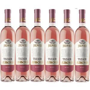 Vin rose sec Tezaur Roze, 0.75L, 6 sticle