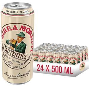 Bere blonda Birra Moretti bax 0.5L x 24 cutii