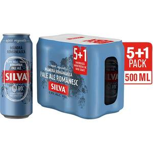 Bere blonda SILVA Romanian Ale promo bax 0.5L x 6 cutii