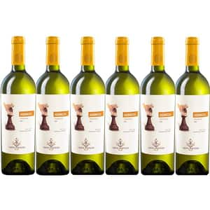 Vin alb sec Hermeziu Chardonnay, 0.75L, 6 sticle