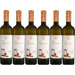 Vin alb sec Hermeziu Scrisori Chardonnay & Sauvignon Blanc, 0.75L, 6 sticle