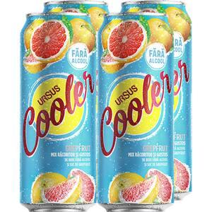 Bere cu arome fara alcool Ursus Cooler Grefe bax 0.5L x 4 doze