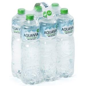 Apa plata alcalina AQUAVIA bax 1L x 6 sticle