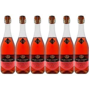Vin spumant rose demi-dulce Canti Marchesini Lambrusco, 0.75L, 6 sticle