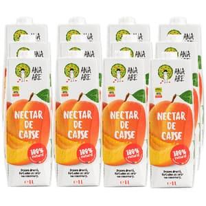 Suc natural ANA ARE, natural 100%, Nectar de caise, bax 1L x 12 cutii
