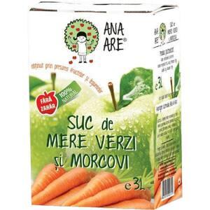 Suc natural ANA ARE, natural 100%, Mere verzi si Morcovi, 3L