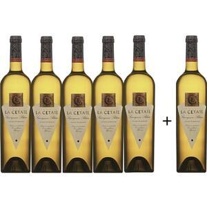 Vin alb sec Oprisor La Cetate Sauvignon Blanc, 0.75L, 5+1 sticle