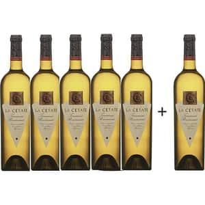 Vin alb demisec Oprisor La Cetate Tamaioasa Romaneasca, 0.75L, 5+1 sticle