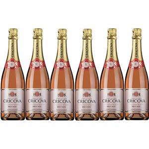 Vin spumant rose Cramele Cricova Brut, 0.75L, 6 sticle