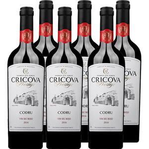 Vin rosu sec CRICOVA Prestige Codru, 0.75L, 6 sticle