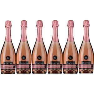 Vin spumant rose Cramele Cricova Crisecco, 0.75L, 6 sticle