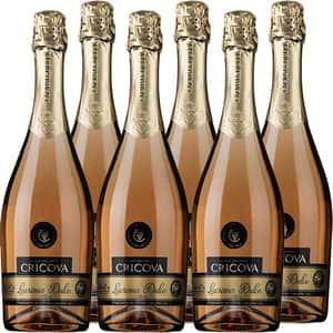 Vin spumant rose dulce CRICOVA Lacrima, 0.75L, 6 sticle