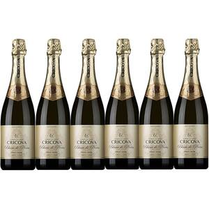 Vin spumant alb sec Cramele Cricova Extra Brut Pinot Noir, 0.75L, 6 sticle