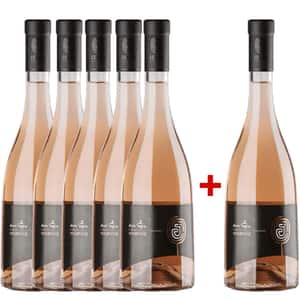 Vin rose sec Dealu Negru Jelna Merlot Rose 0.75L, 5+1 sticle