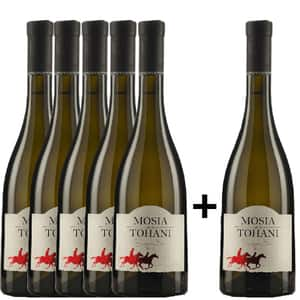 Vin alb sec Mosia de la Tohani Sauvignon Blanc, 0.75L, 5+1 stIcle