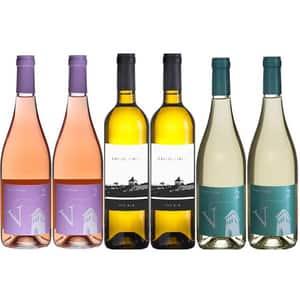Vin sec Villa Vinea Lejer, 0.75L, 6 sticle (4 x alb/2 x rose)