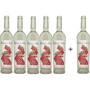 Vin alb sec Oprisor Rusalca Alba, 0.75L, 5+1 sticle