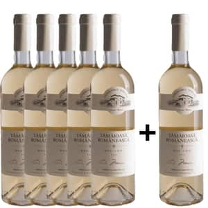 Vin alb dulce Domeniile Tohani Tamaioasa Romaneasca, 0.75L, 5+1 sticle